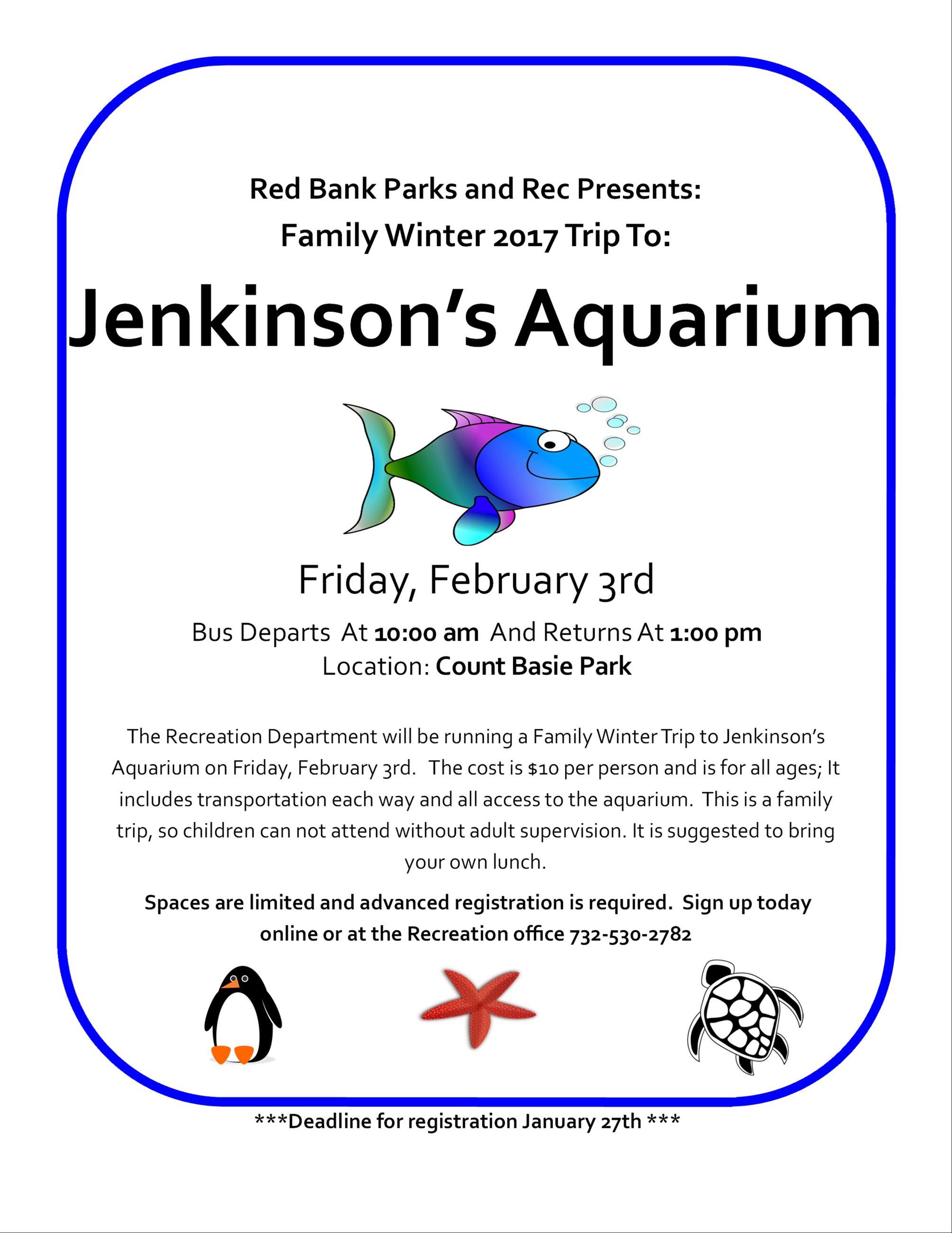 Jenkinsons aquarium trip