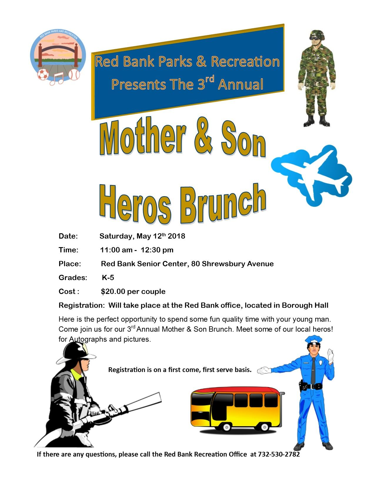Mother Son Heros Brunch Flyer 2018