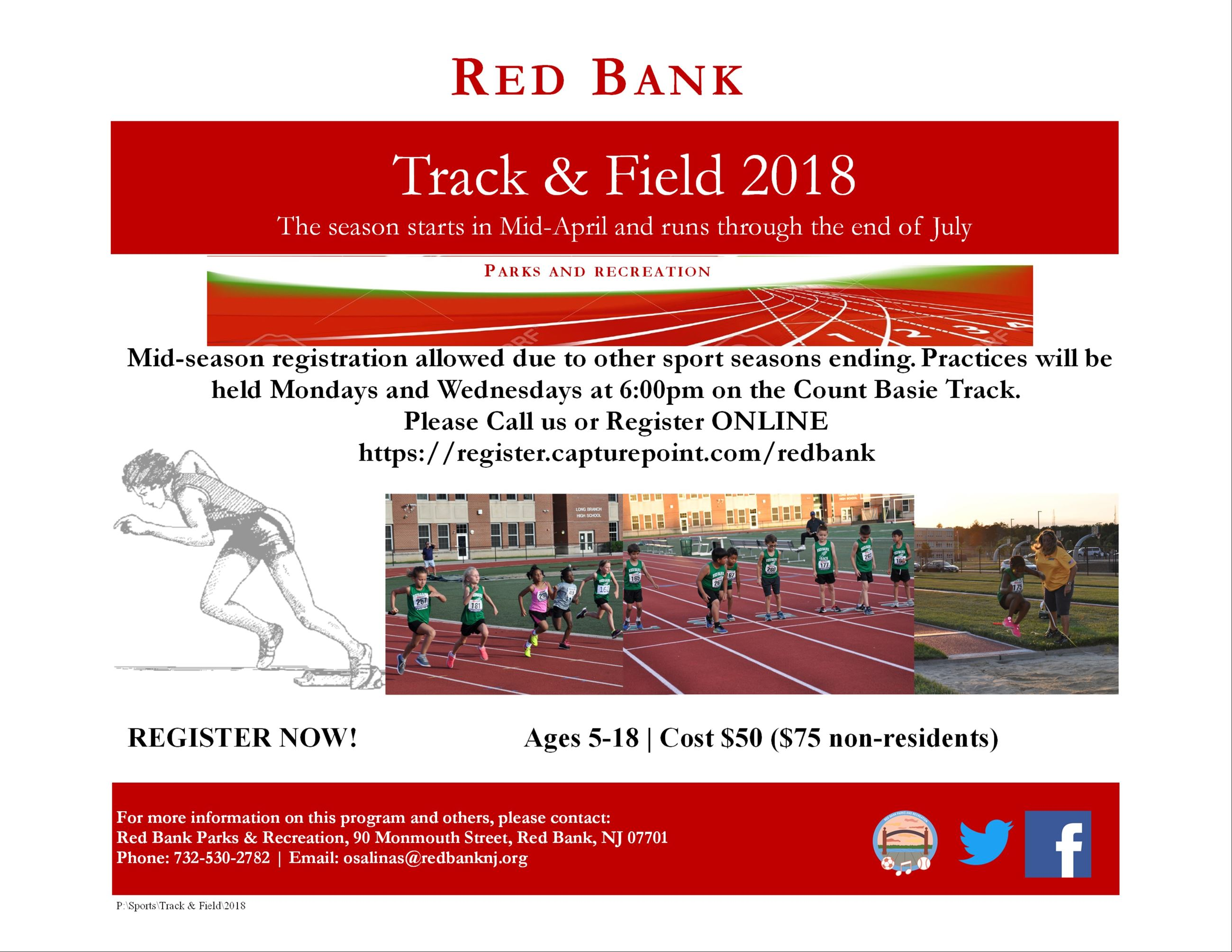 Track and Field English Flyer 2018