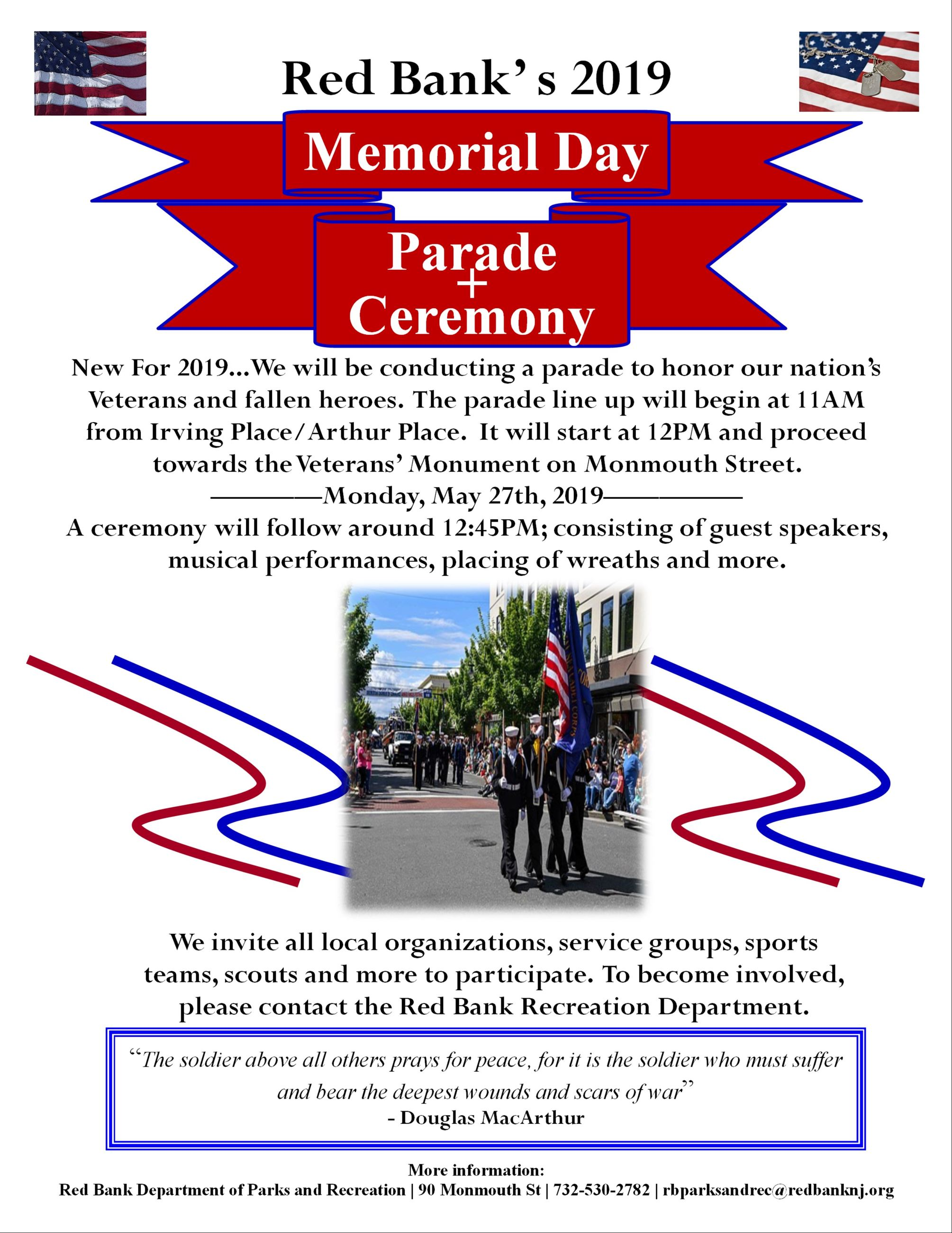 Red Bank Memorial Day Flyer 2019