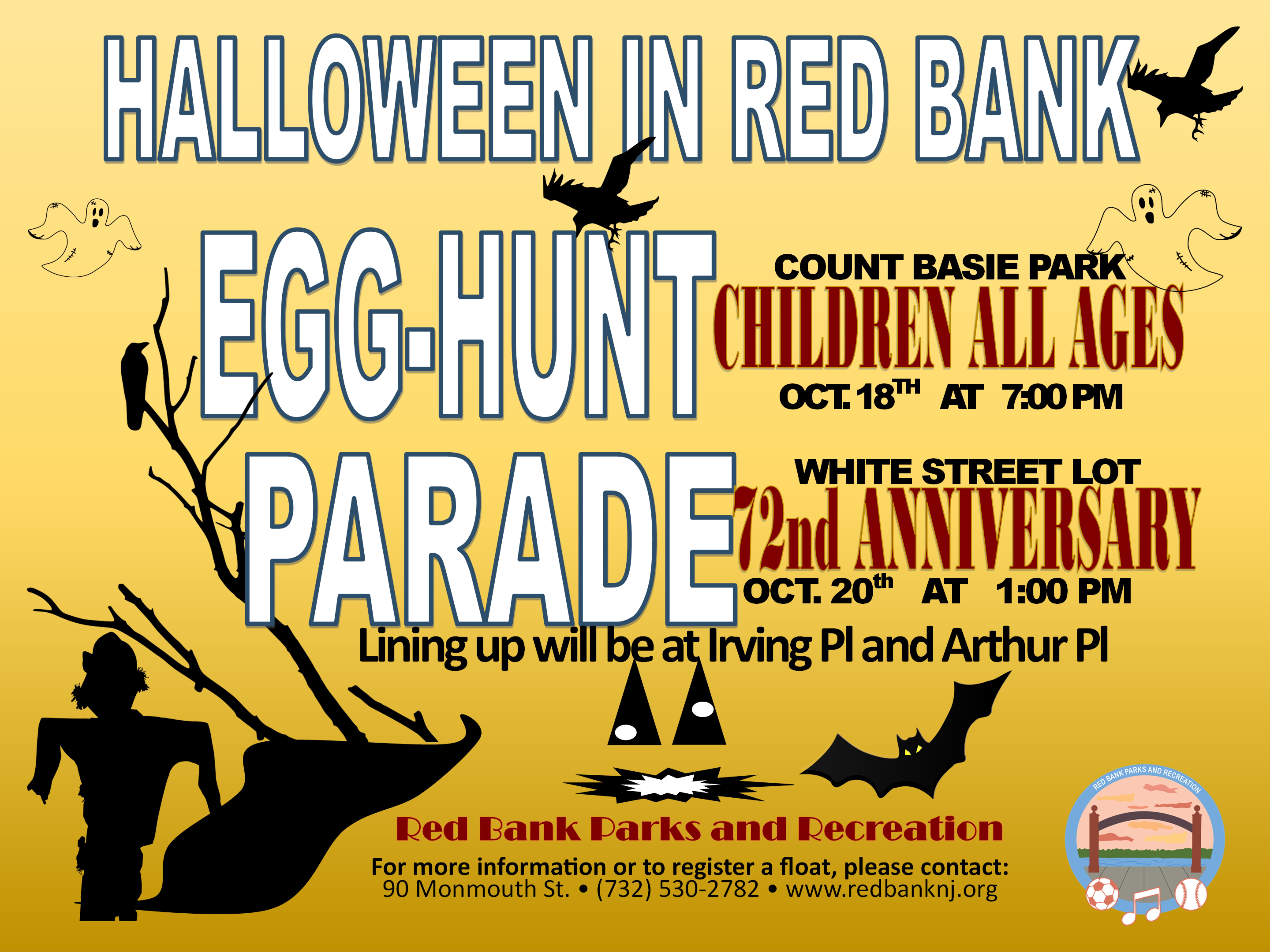 72 halloween parade flyer 2019