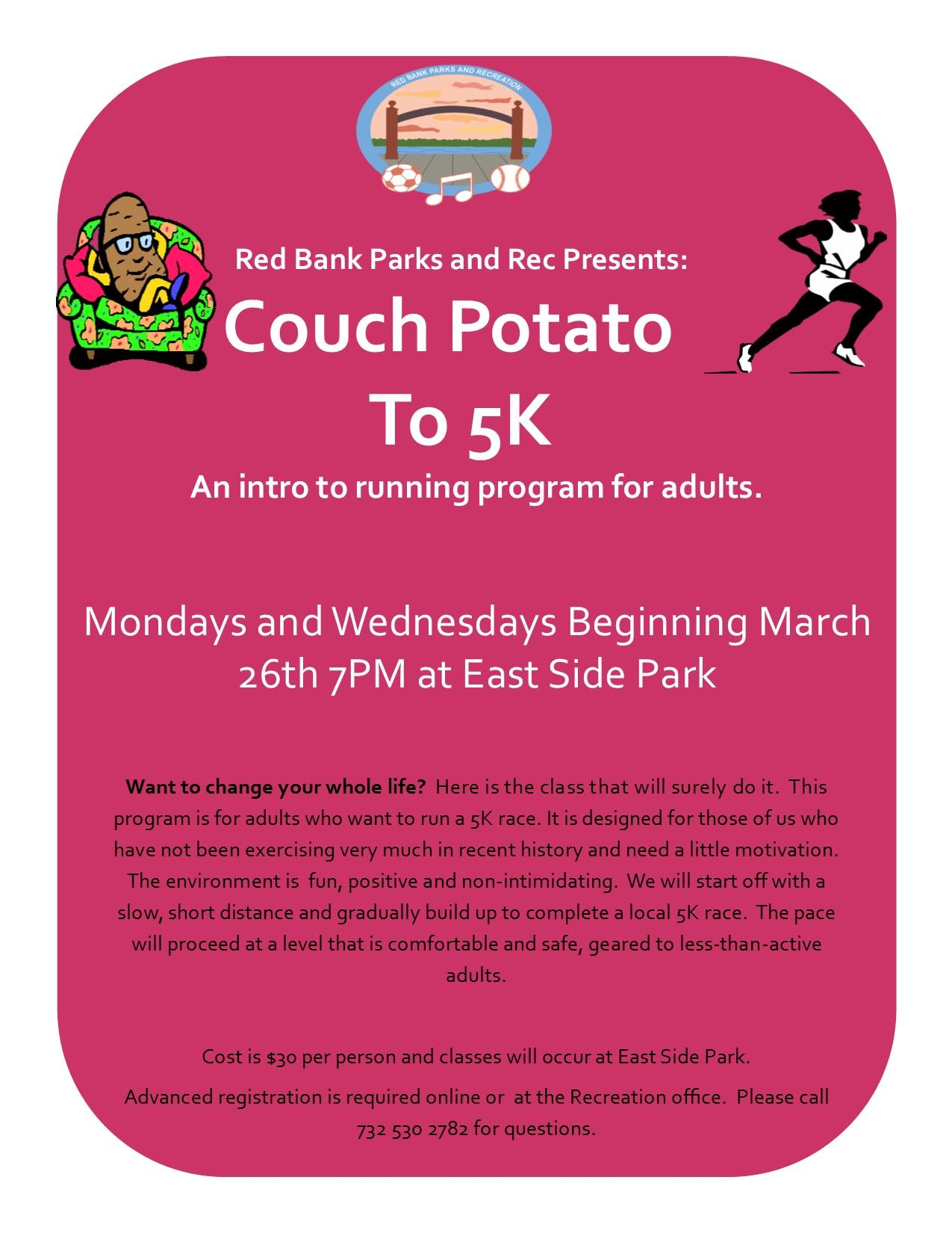 couch to 5k flyer 2018